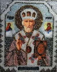 Купить <b>Набор</b> для <b>вышивки</b> бисером икона Николай Чудотворец ...