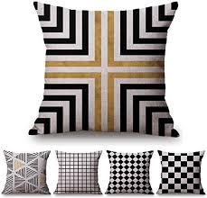 JWEK Cushion Cover 5 Piece Set <b>Pillowcase Nordic Style</b> ...