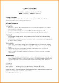 non academic resume