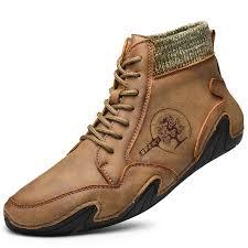 <b>SENBAO Men Boots Fall</b> Winter Mid-Top Trend Socks Shoes - Dark ...