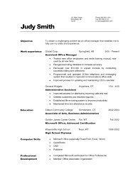 administrative resume objective examples doc medical office administrative resume objective examples resume for office assistant s lewesmr sample resume for office assistant photo