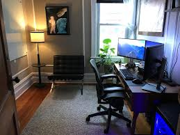 my professional gaming home office setup imgur basement office setup 3 primary