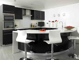 interior design kitchens mesmerizing decorating kitchen: mesmerizing black cabinets on white backsplash for small modern kitchen design ideas with curved bar counter