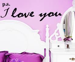 PS I <b>Love</b> You Цитировать обои съемные настенные наклейки ...