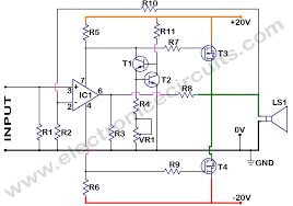 mosfet power amplifier   electronic circuitsmosfet power amplifier circuit diagram