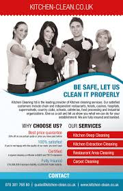 design a flyer for kitchen cleaning company lancer 6 for design a flyer for kitchen cleaning company by izabela1