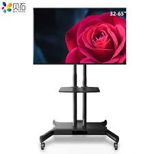 Mobile TV Cart <b>Swivel TV Floor Stand</b> Mount Home Display TV ...