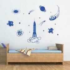ik1179 <b>Wall Decal</b> Sticker Star space rocket astronaut kids room ...