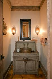 f attractive narrow space ideas bathroom vanity rustic with reclaimed wood cabinet combine antique brass vessel round bowl using wall mount dual faucets attractive vanity lighting bathroom lighting ideas