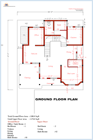 Bedroom home plan and elevation   Kerala home design and floor plansGround floor plan
