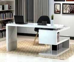 stunning modern executive desk designer bedroom chairs: stunning modern home office desks with unique white glossy desk plus open bookshelf with black chair