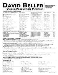 stage manager resume com stage manager resume to get ideas how to make captivating resume 5