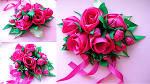 Цветы из лент мастер класс видео розы