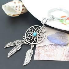 <b>Fashion Tassel</b> Pendant Keychain Keyring <b>Gift</b> Alloy Feather ...