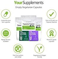 Your Supplements <b>Empty Vegetarian Capsules</b> - <b>Size</b> 000 - Pack of ...
