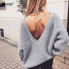 Rugod <b>Sexy V Neck knitted</b> Sweater pants suits women Fashion ...