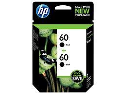 <b>HP</b> 60 <b>2-pack</b> Black Original Ink Cartridges (CZ071FN#140)