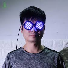 Free Shipping LED Laser <b>Glasses</b> Blue Light Dancing Stage <b>Show</b> ...