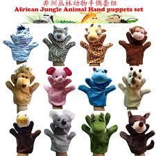 <b>Free shipping 12pcs</b>/<b>lot</b> Hand Puppets set , African jungle animal set ...