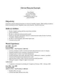 clerical resume samples resume format  top