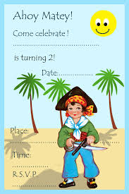 pirate party invitations for kids birthday party ideas for kids pirate invitation 2nd birthday