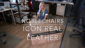 noblechairs ICON - <b>Real Leather</b> - YouTube