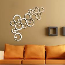 silver 3d mirror wall sticker artistic round decal wall home decorations espelho decorativo parede alphabet logo aliexpresscom buy office decoration diy wall