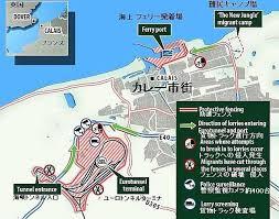 「英仏海峡に面した仏北部カレーの港地図」の画像検索結果