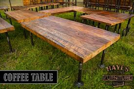 industrial coffee table with black iron pipe legs black iron pipe table