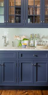 inky blue kitchen cabinets