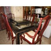 asian dining table with six chairs asian dining room sets 1