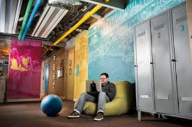 printed wallpaper surfaces are strongly emphasised in the new office we either used photo reproductions of floorings as in the boardroom dedicated to the atmosphere google office