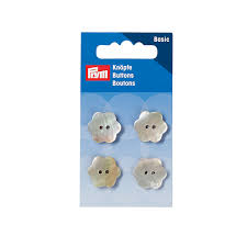 Buttons, mother-of-<b>pearl flower</b>, 2-hole, 15mm | Prym