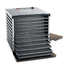 LEM Mighty Bite <b>10</b>-Tray Black <b>Food Dehydrator</b> with Temperature ...