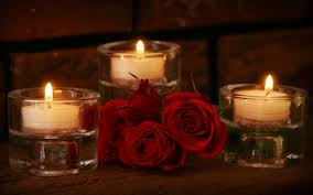 Image result for candle and flower
