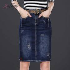 <b>Brief Relate Dark Blue</b> Mini Women Skirt Jeans Pocket Decors Lady ...