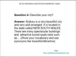 ielts speaking questions answers set