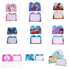 10pcs/lot Invitation Card Batman+<b>Spiderman</b>+Pikachu+Frozen+ ...