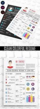 creative infographic resume templates colorful graphic design resume template