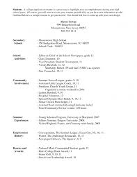 example of resume for college application template example of resume for college application