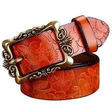 <b>2016 New Fashion</b> Wide Genuine leather <b>belt</b> woman vintage Floral ...