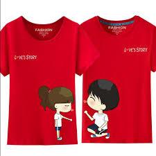 <b>Cute Cartoon</b> T Shirt Lovers Clothes Male <b>Female</b> O Neck Short ...