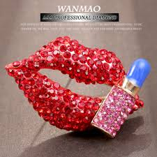 lip shapes personality reviews online shopping lip shapes red fashion new personalized high grade lipstick lip shape brooch ladies jewelry wedding bride accessories aa031