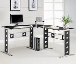 luxury modern home office desk design idea in black with silver base hole accents white books awesome wood office desk classic