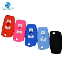 OkeyTech <b>3 Buttons Silicone Car</b> Remote Key Fob Shell Cover ...