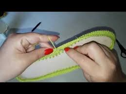 Вязаная обувь крючком . Как я начинаю работать с подошвой ...