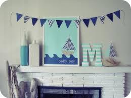 room cute blue ideas: nautical baby room ideas cute baby nursery room decoration for boys using white mantel brick