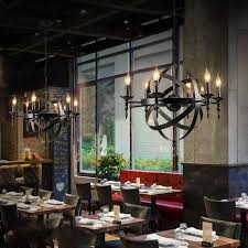 aliexpresscom buy american country style loft candle chain pendant lights creative vintage hanging lamps for bar cafe restaurant hotel fixtures from american country style loft