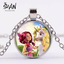 SIAN <b>Fashion Anime</b> Mia and Me Necklace Pegasus <b>Fairy</b> Printed ...