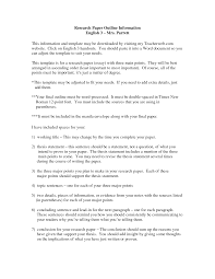 term paper outline format Pinterest
